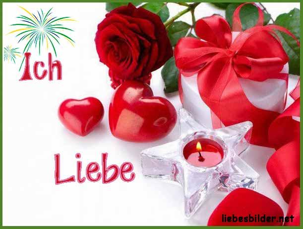 Schönes Bild mit Rosen und Herzen