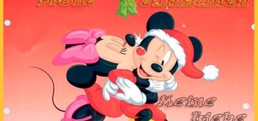 Liebes Bild von Weihnachten mit MIckey und Minnie